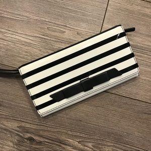 Kate Spade Striped Wallet Wristlet
